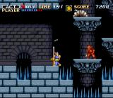 ActRaiser SNES Dodging a throwing knife.