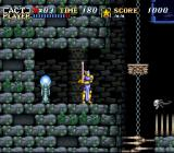 ActRaiser SNES Deadly spikes and moving platforms