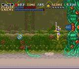 ActRaiser SNES Boss-fight against a huge plant