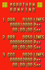 Tetris WonderSwan Color Rankings