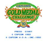 Gold Medal Challenge '92 NES Title Screen