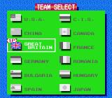 Gold Medal Challenge '92 NES Then player selects the team.