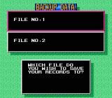 Gold Medal Challenge '92 NES There are two different save slots to save the records. Records are saved the battery backed RAM.