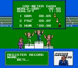 Gold Medal Challenge '92 NES When a record is broken then the player is required to enter there name. This is saved on the battery backed RAM.