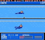 Gold Medal Challenge '92 NES The 100-Meter Backstroke. Have to get the rhythm right for maximum speed.