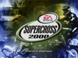 Supercross 2000 PlayStation Title screen.