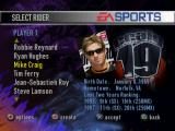 Supercross 2000 PlayStation Choosing a rider.