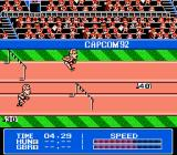 Gold Medal Challenge '92 NES The 110-Meter Hurdles. Time the hurdle jumps.