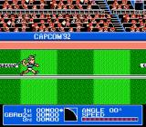 Gold Medal Challenge '92 NES The run up for the Javelin Throw.