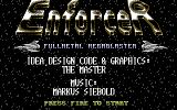 Enforcer: Fullmetal Megablaster Commodore 64 Title screen