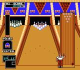 Championship Bowling NES The character on lane 1. They always do there little wave at the start of the game.