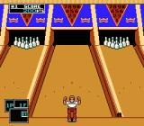 Championship Bowling NES … it's a Strike. The man jumps up and down in joy.