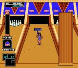 Championship Bowling NES In two-player mode a model comes out to indicate the current player. Strangely, this only happens on the first and last frames.