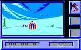 Downhill Challenge Amstrad CPC Starting the Slalom...
