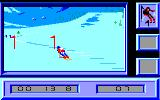 Downhill Challenge Amstrad CPC Another turn in Slalom