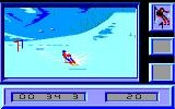 Downhill Challenge Amstrad CPC Difficult turn in Slalom...