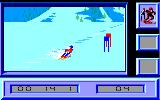 Downhill Challenge Amstrad CPC Turn in Giant...