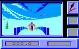 Downhill Challenge Amstrad CPC Starting the Ski Jump
