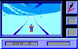 Downhill Challenge Amstrad CPC Ready to perform a jump...
