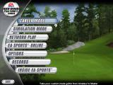Tiger Woods PGA Tour 2004 Windows Main menu.