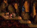 Donkey Kong Country SNES Underground cave level