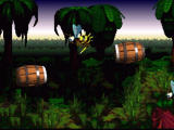 Donkey Kong Country SNES Monkeys in the barrel! You need to have a good timing in order to jump over into the other barrel