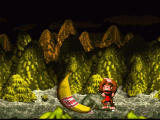 Donkey Kong Country SNES After a big battle, you get a trophy