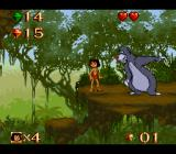 Disney's The Jungle Book SNES At the end of each level, you meet Baloo.