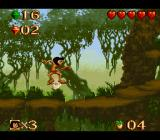 Disney's The Jungle Book SNES At some areas, you can ride an insect like an elevator.
