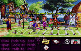 Monkey Island 2: LeChuck's Revenge DOS The spitting contest. Just follow the wind... and rearrange those marking flags.