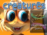 Creatures PlayStation Start menu