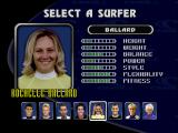 Championship Surfer PlayStation Selecting Ballard.