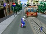 "Pepsiman PlayStation <moby game=""Sonic Adventure 2"">Sonic Adventure 2</moby>? Nope, It's another blue menace skating down the San Francisco hill!"