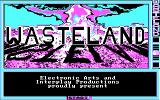 Wasteland DOS Title screen (CGA with RGB monitor)
