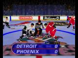 Wayne Gretzky's 3D Hockey Nintendo 64 The referee will toss down the puck.