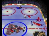 Wayne Gretzky's 3D Hockey Nintendo 64 Moving the puck around the playing field.