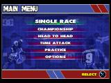 Championship Motocross Featuring Ricky Carmichael PlayStation Main menu