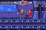 Saban's Power Rangers: Time Force Game Boy Advance First level.