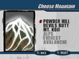 Cool Boarders 3 PlayStation Mountain selection