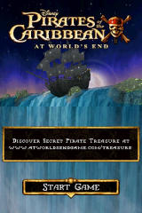 Disney Pirates of the Caribbean: At World's End Nintendo DS Title screen