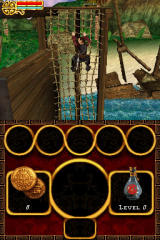 Disney Pirates of the Caribbean: At World's End Nintendo DS Climbing the cargo nets.