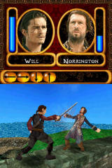 Disney Pirates of the Caribbean: At World's End Nintendo DS Will duels Norrington.
