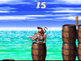 Donkey Kong Country 2: Diddy's Kong Quest SNES Riding a rhinoceros makes you almost invincible