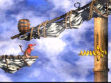 Donkey Kong Country 2: Diddy's Kong Quest SNES The bananas are just like coins in Mario games