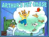 Arthur's Pet Chase Windows Title screen
