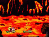 Donkey Kong Country 2: Diddy's Kong Quest SNES Jumpin' on crocodiles