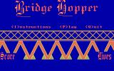 Bridge Hopper DOS Title screen