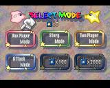 Puzzle Star Sweep PlayStation Mode selection screen. You can access the two last ones by collecting stars in the game.