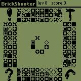 BrickShooter Palm OS Starting a basic game.