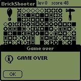 BrickShooter Palm OS Game over :(